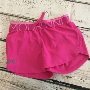 Under Armour Hot Pink Shorts Youth Small